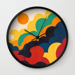 Cloud nine Wall Clock