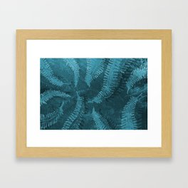 Ferns (light) abstract design Framed Art Print