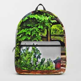 City Park - Photo converted to painting Backpack