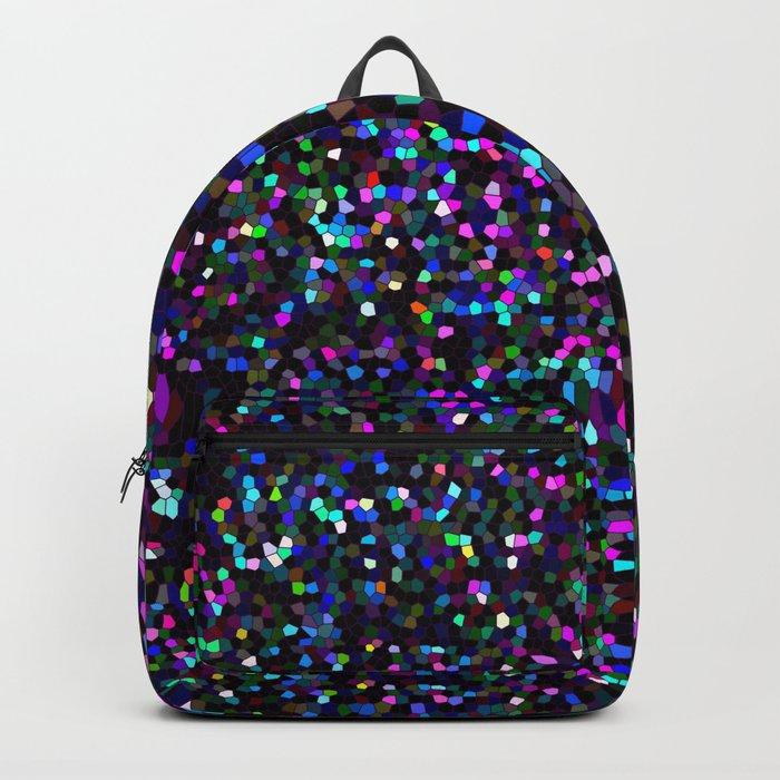 Mosaic Glitter Texture G45 Rucksack