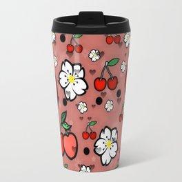 Cherry popart by Nico Bielow Travel Mug