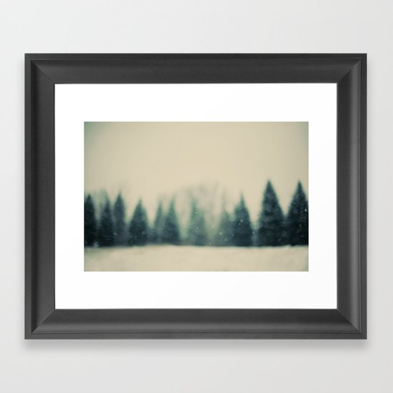 Frost and Fir Framed Art Print