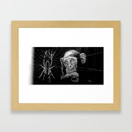 WATCHING THE SPIDER Framed Art Print