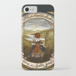With a heavier back comes a lighter spirit iPhone Case
