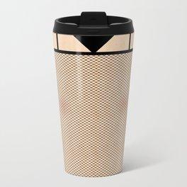 Fishnet Stockings and Black Knickers Travel Mug