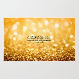 """A well adjusted... """"Alexander Hamilton"""" Inspirational Quote Rug"""