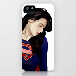Lena Luthor in Supersuit iPhone Case