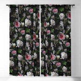 Midnight Garden Blush Florals Blackout Curtain