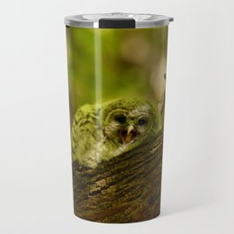 Baby owl yawn Travel Mug