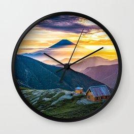 Mt Fuji I Wall Clock