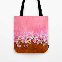 Pink and Rust Tote Bag
