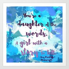 DAUGHTER OF WORDS | NEVERNIGHT BY JAY KRISTOFF Art Print