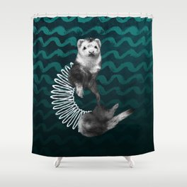 Ferret Slinky Shower Curtain