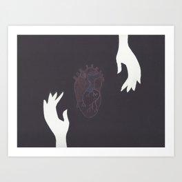 reaching for love Art Print