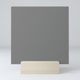 Black and White Micro Houndstooth Check Mini Art Print
