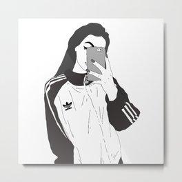 Selfie in the mirror Metal Print