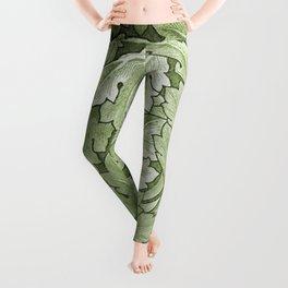 Celery Green Acanthus Plant Leggings