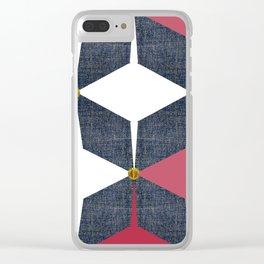 KALEIDOSCOPE 01 #HARLEQUIN Clear iPhone Case