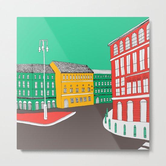 City Life // European Architecture Metal Print