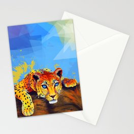 Tree Leopard Stationery Cards