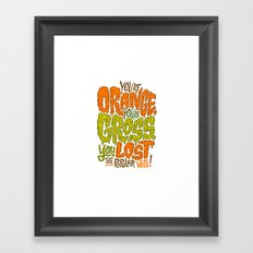 He's Orange, He's Gross, He Lost the Popular Vote Framed Art Print