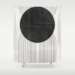 Line Art and Circle Shower Curtain