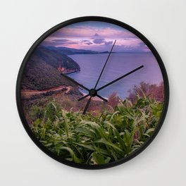 Greek Peninsula Landscape Wall Clock