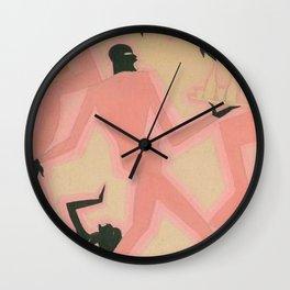 African American Masterpiece 'Untitled - Nightclub Scene  by Aaron Douglas Wall Clock