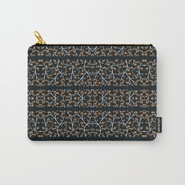 Floral Lace Stripes Print Pattern Carry-All Pouch