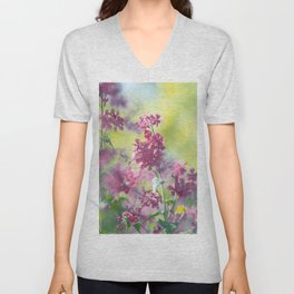 #Stunning #flowers #pattern in #soft #colors and #big #shades Unisex V-Neck
