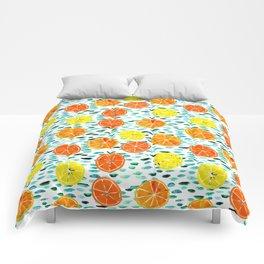 Citrus Lily (white) Comforters