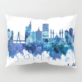 Lagos Nigeria Skyline Blue Pillow Sham