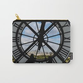 Paris cityscape through the giant glass clock at the Musee d'Orsay Carry-All Pouch