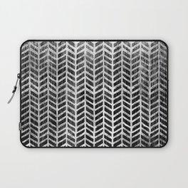 Herringbone & Teak (Black & White) Laptop Sleeve