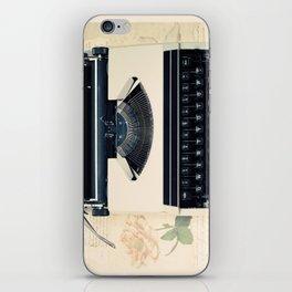 Typewriter (Retro and Vintage Still Life Photography) iPhone Skin