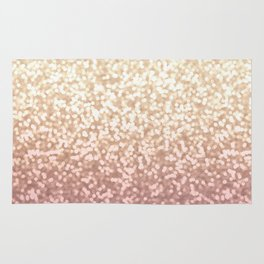 Champagne Gold Blush Pink Glittery Ombre Pattern #society6 Rug