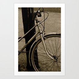 Bike of time Art Print