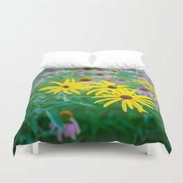 Wildflowers at Dusk Duvet Cover