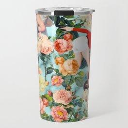 Floral and Pin Up Girls II Pattern Travel Mug