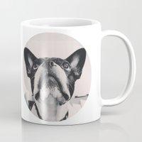 french bulldog Mugs featuring French Bulldog by lori