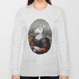 Unicorn Mona Lisa Long Sleeve T-shirt