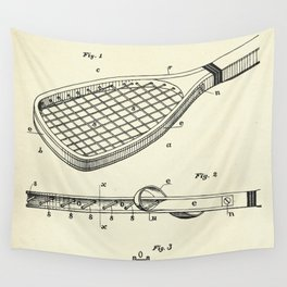 Construction of Tennis Rackets-1887 Wall Tapestry