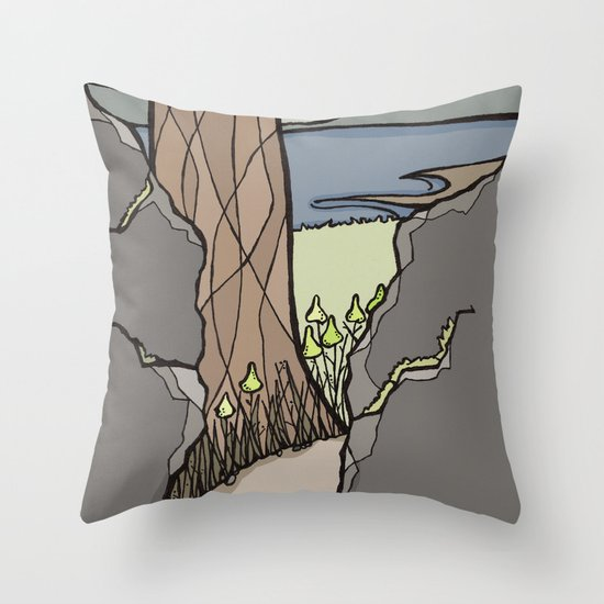 Trail Tree Throw Pillow