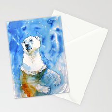 Polar Bear Inside Water Stationery Cards