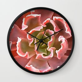 Living Coral Succulent Wall Clock