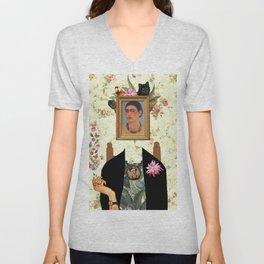 Frida kahlo portrait Unisex V-Neck