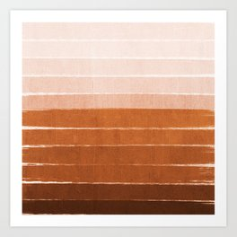 Sunset - rust, terracotta, clay, desert, sunshine, boho, ombre, paint, sunset colors,  Art Print