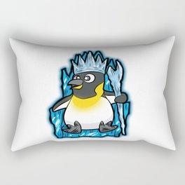 EMPEROR PENGUIN King Ruler Ice Throne Cartoon Gift Rectangular Pillow