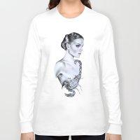 scorpio Long Sleeve T-shirts featuring Scorpio by Libby Watkins Illustration