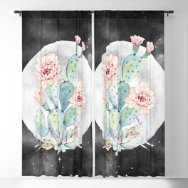 Cactus Nights Prettiest Cactus Full Moon Sky by Nature Magick Blackout Curtain